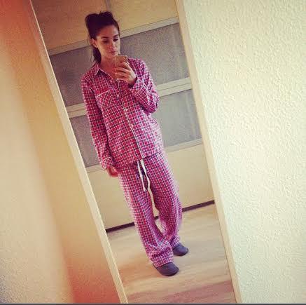 Jet lag OOTD:  Pajamas .