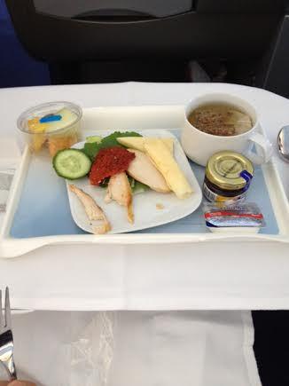 Lufthansa first course
