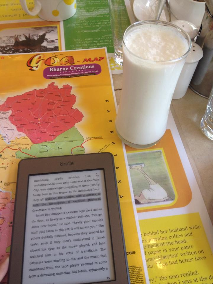 Fresh lassi and a  good book