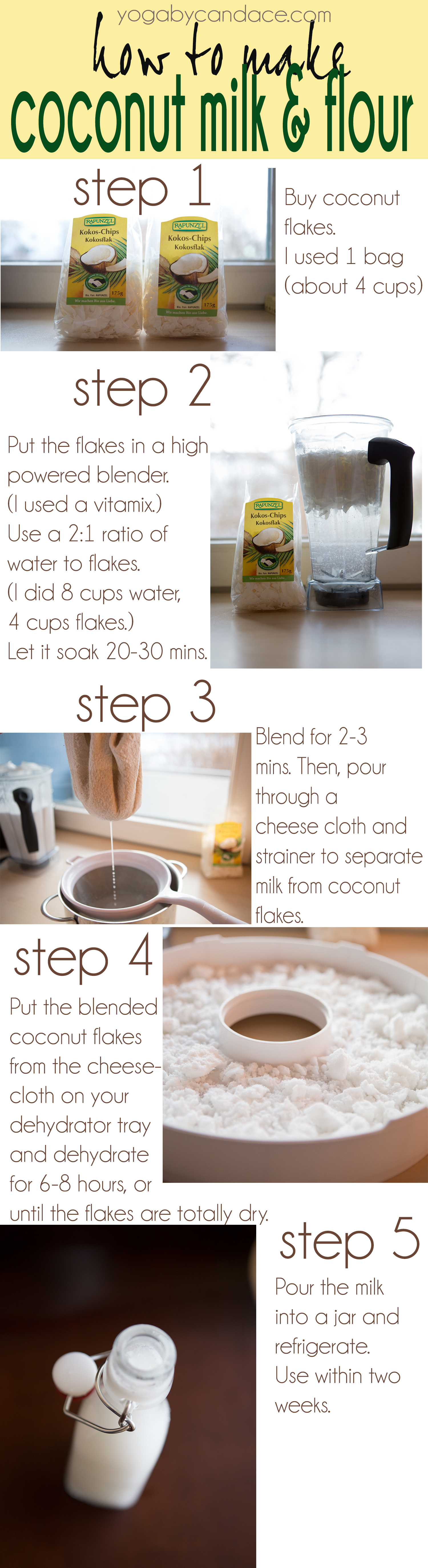 Pin it! How to make coconut milk and coconut flour!