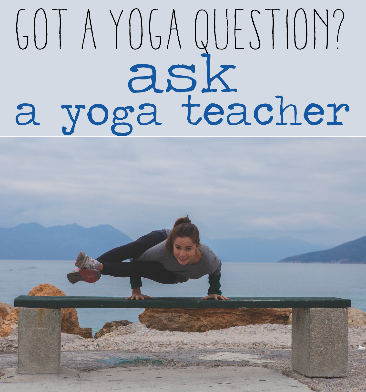 Have a yoga question? Ask it  here .  Wearing: Lululemon wunder unders ( similar ),  T by Alexander Wang sweater ,  LA Made tank .