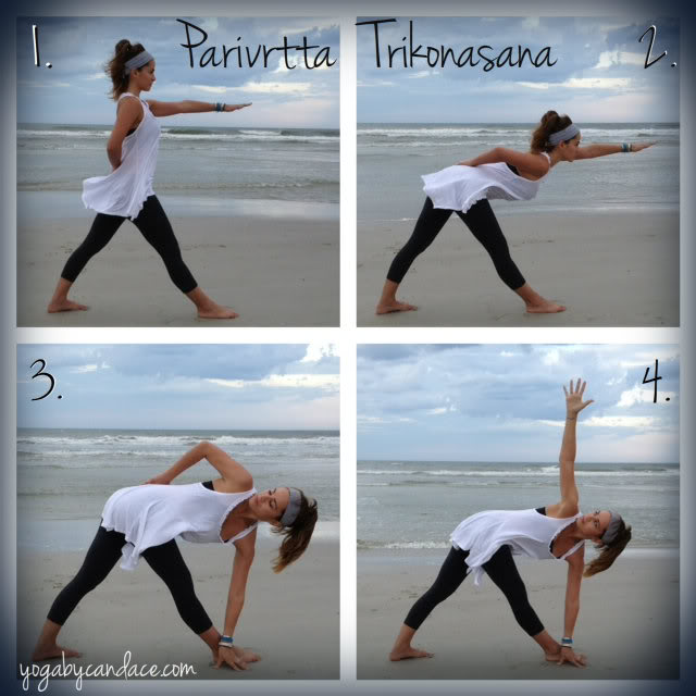 Pin it! Reverse triangle pose.