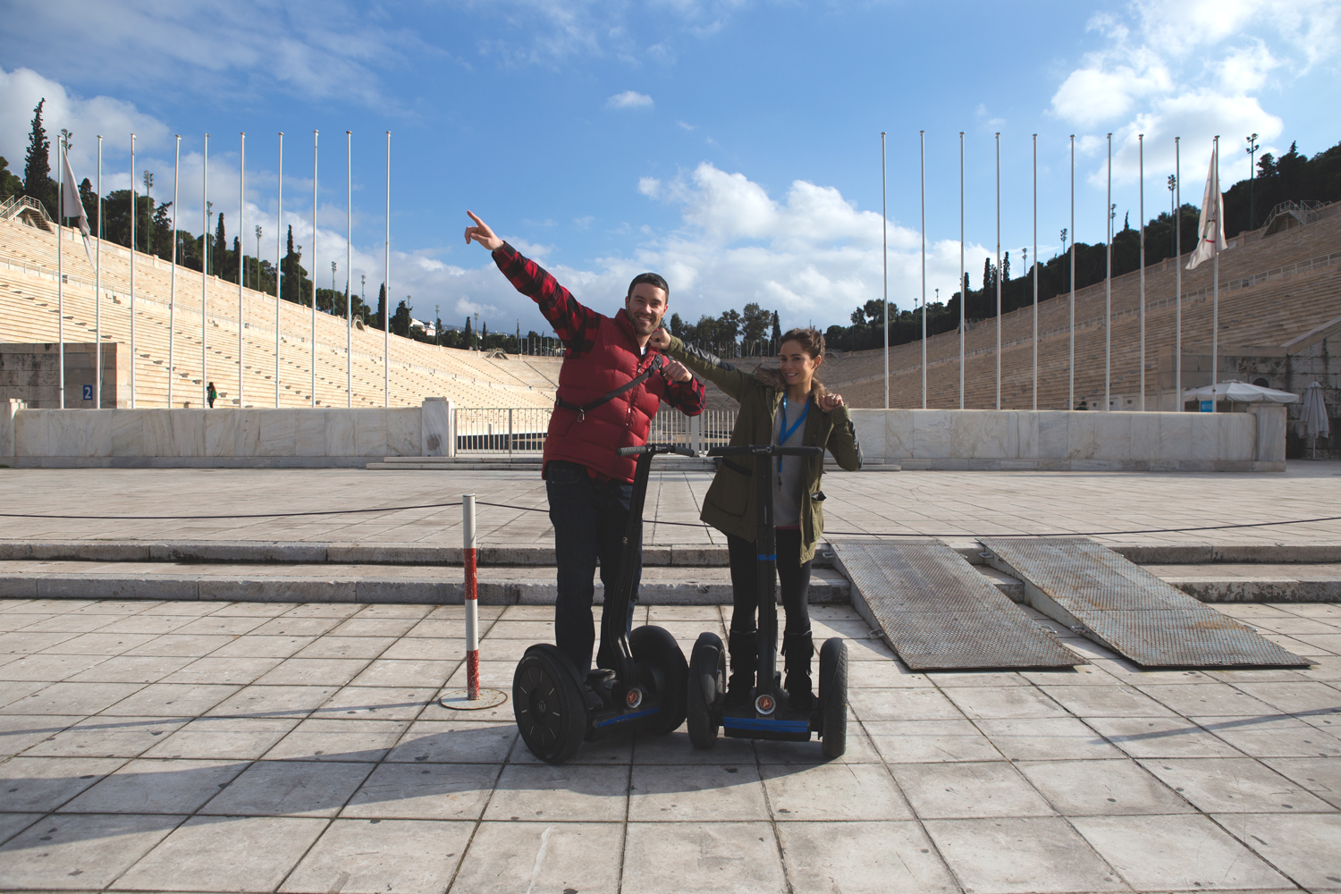 Segway tour stop- at the track of the first Olympic games in 1896