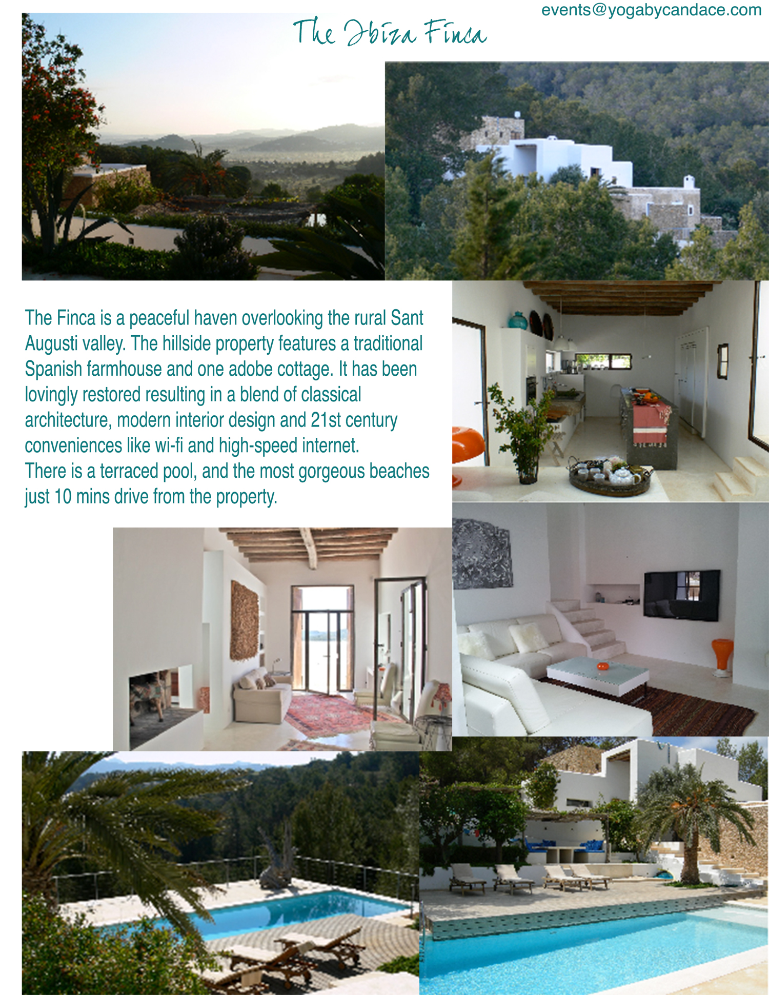 Ibiza yoga retreat property overview