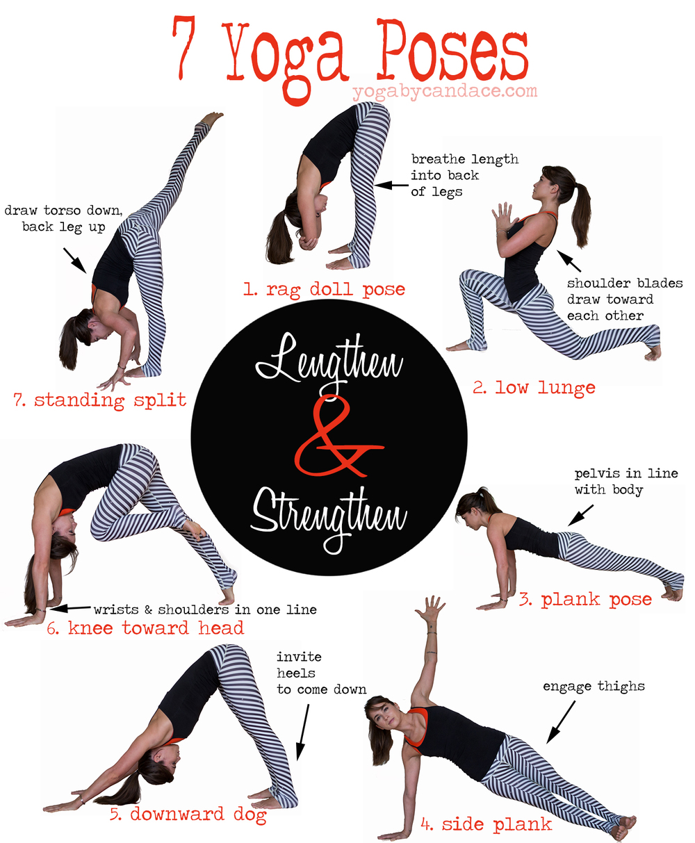 Yoga Sequence 50 Poses to Lengthen and Strengthen — YOGABYCANDACE