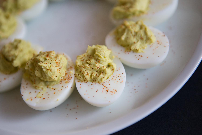 Pin it! Healthy avocado deviled eggs recipe