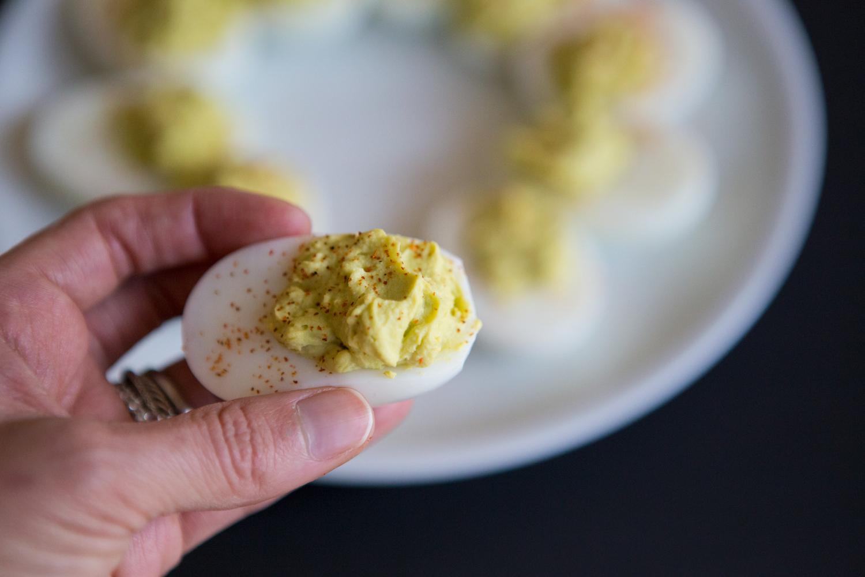 Pin it! Healthy deviled eggs recipe