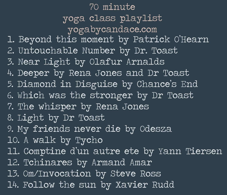 Pin it! 70 minute class playlist