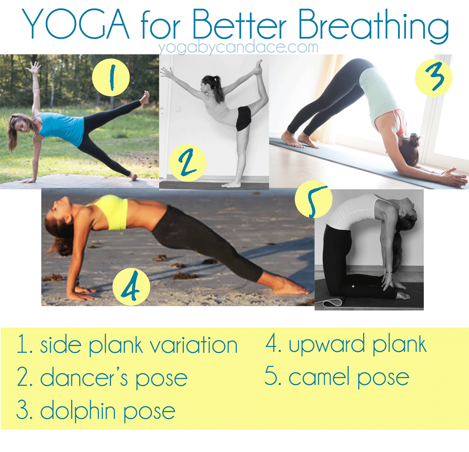 Pin it! 5 Yoga poses for better breathing.