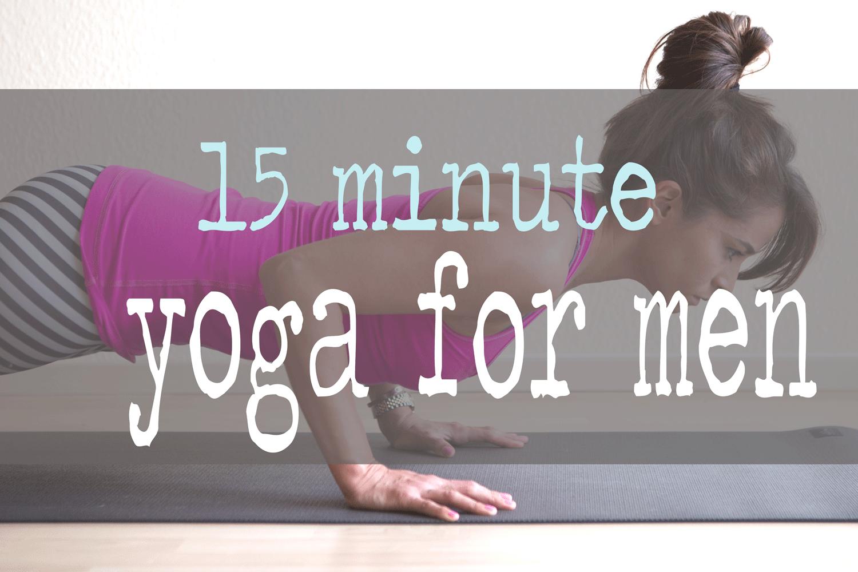 Pin i! 15 minute yoga video for men.  Wearing:  Teeki balanced traveler pants , lululemon top. Using  Wellicious Divine Mat  c/o