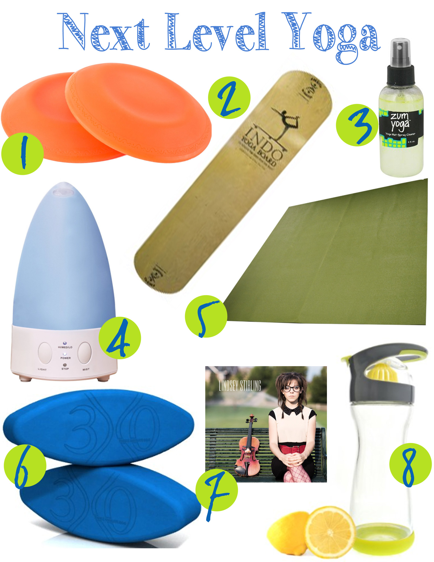 8 Yoga props to take your yoga to the next level. Pin it!