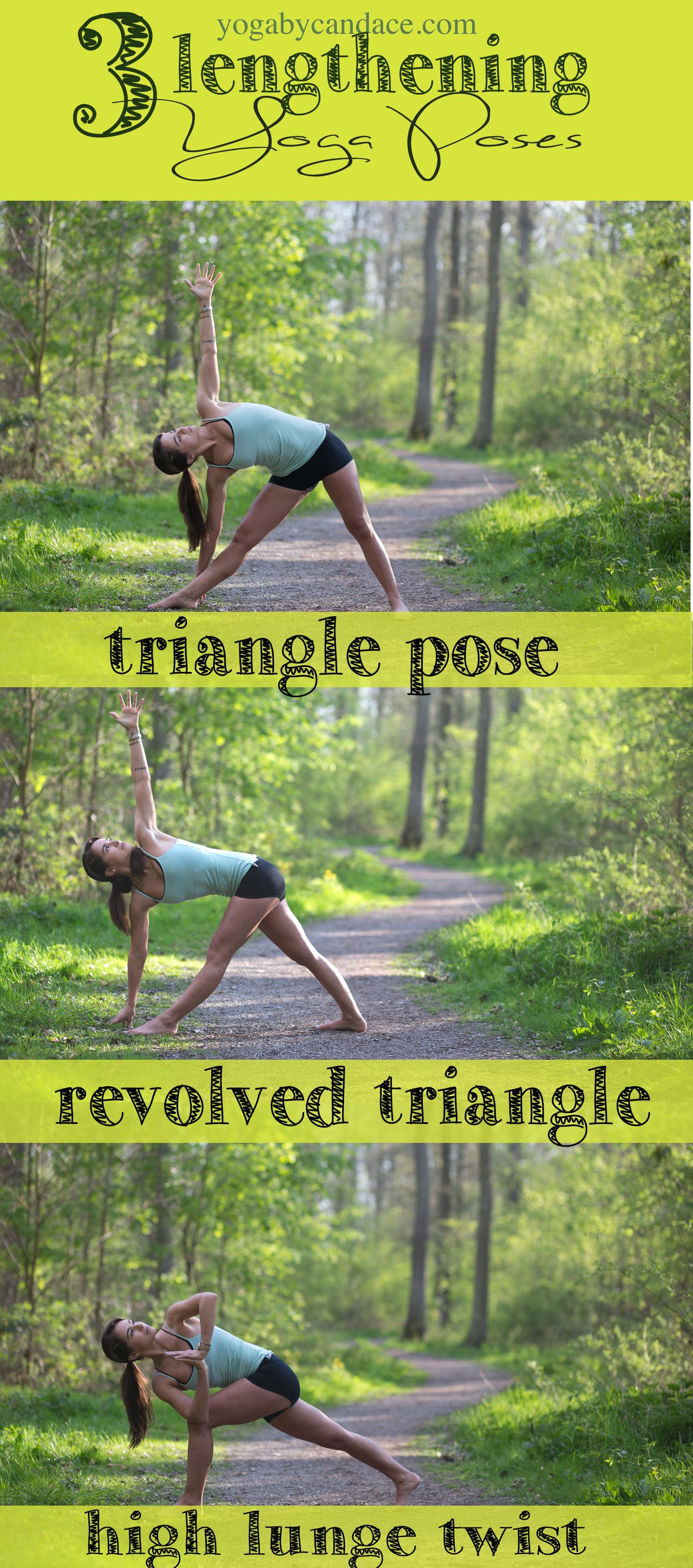 Pin it! Three lengthening yoga poses  Wearing: Lululemon shorts ( similar on sale ),  gap body bra  (on sale), tank .