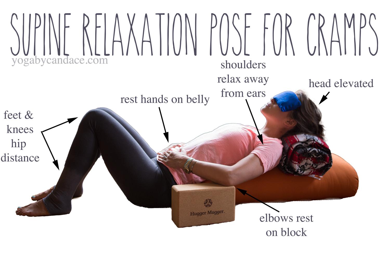 Pin it! A restorative pose for cramps.  Wearing:  LVR Fashion leggings  c/o,  j crew vintage tee