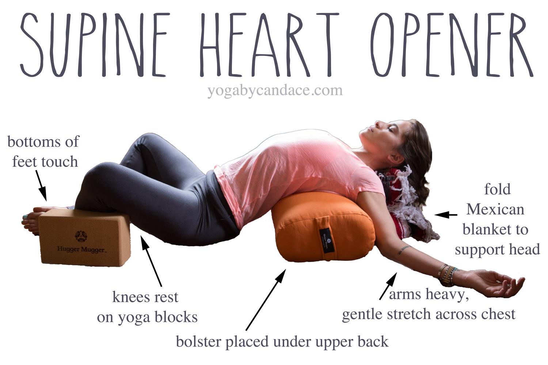 Pin it! Heart opening yin pose.  Wearing:  LVR Fashion leggings  c/o,  j crew vintage tee .