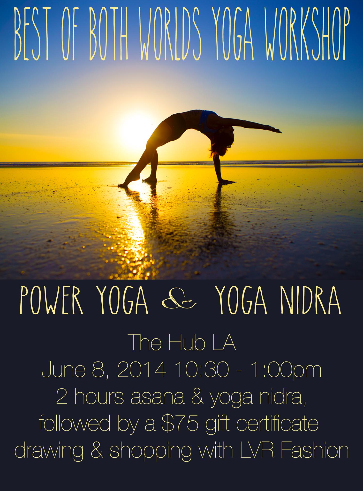 Yoga workshop in Los Angeles