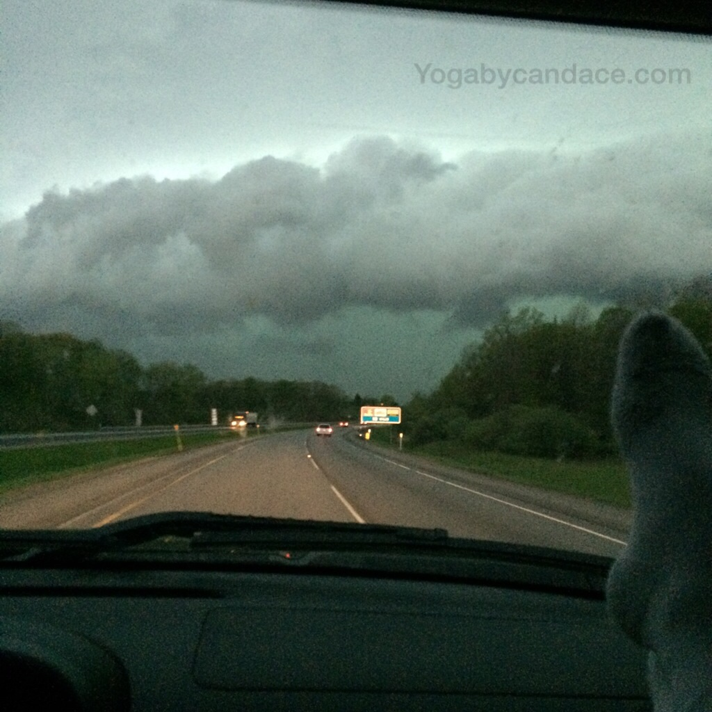 About to drive through a major storm in Iowa