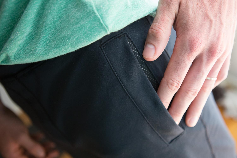 slash pocket with mesh inside