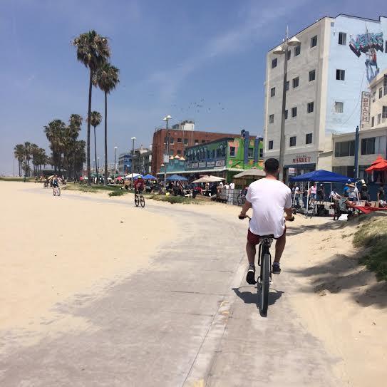 Biking in Venice