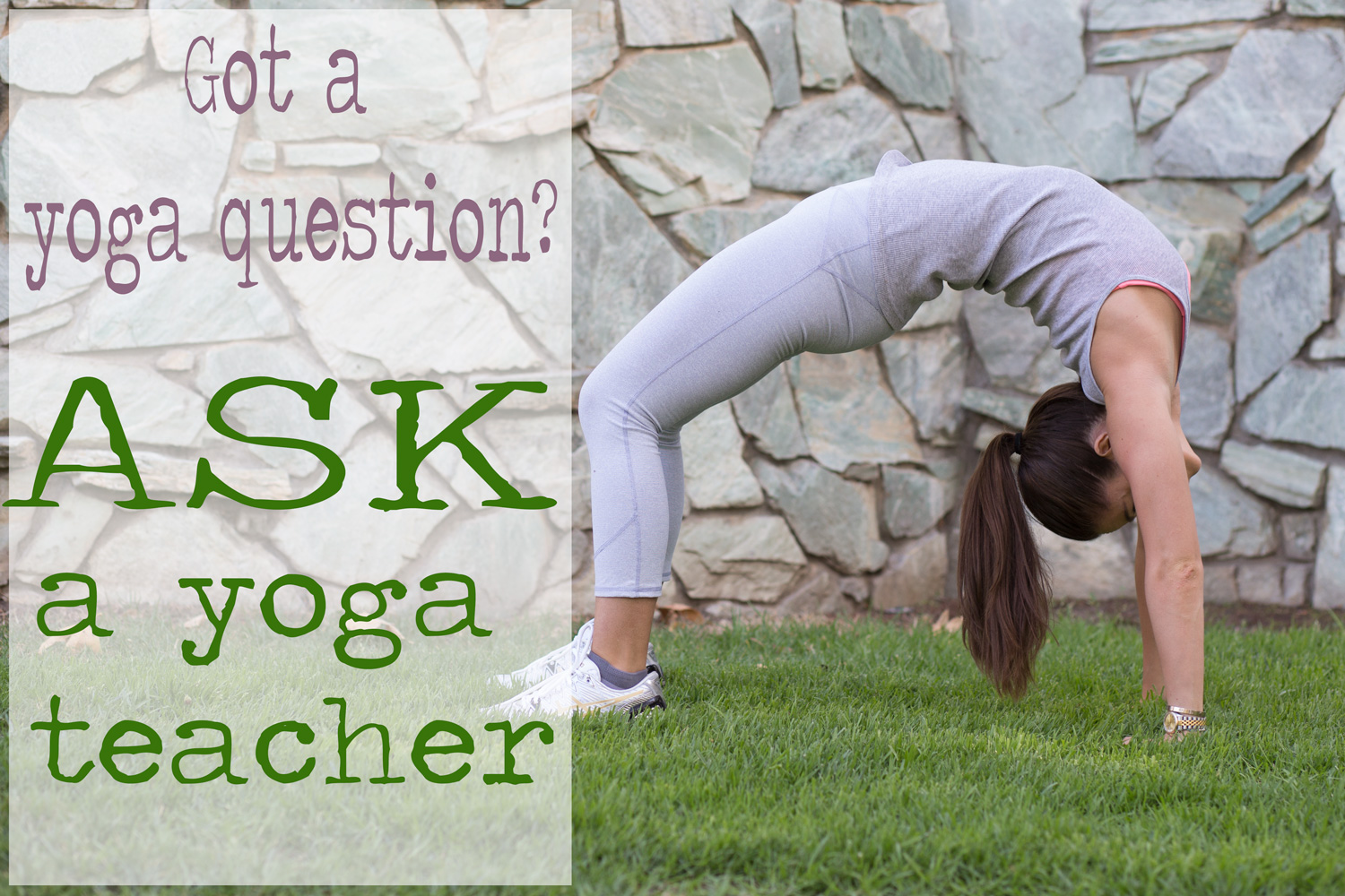 Pin it! Ask your yoga question on the blog!  Wearing:  ASICS kinsei 5 sneakers ,  fabletics pants ,  j. crew favorite tank