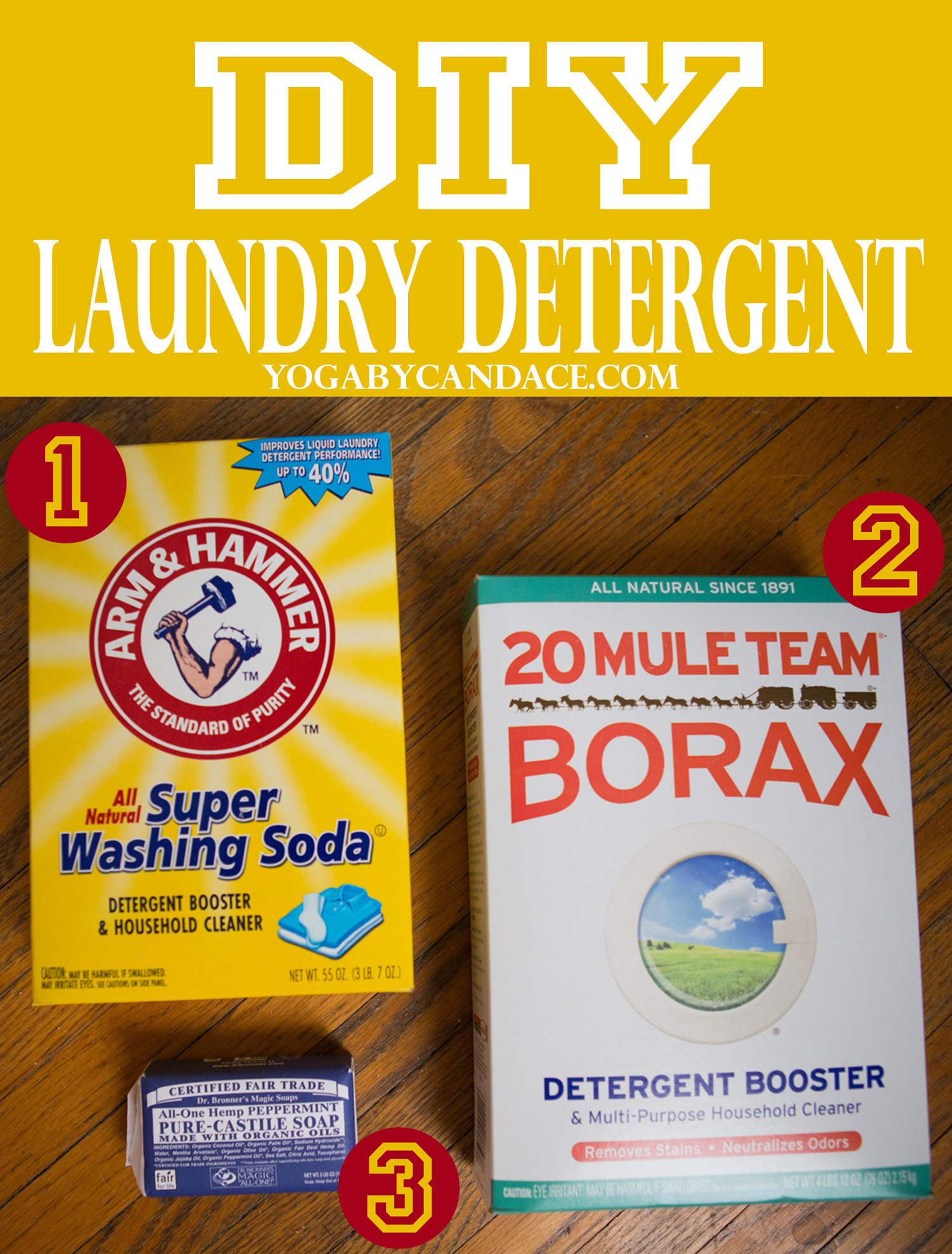 Pin it! How to make your own laundry detergent