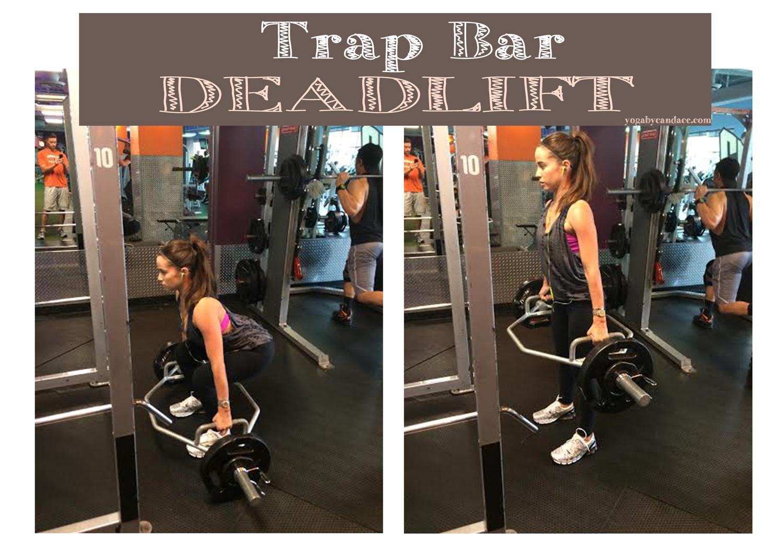 Trap Bar Dead Lift  Wearing: Maje top ( similar , lululemon bra and leggings,  ascics sneakers .Using:  Bose headphones .