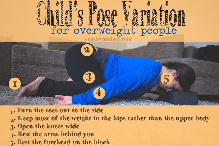 Child's pose to accommodate a belly