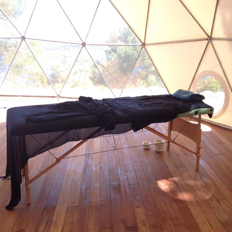 Massage in the yoga dome