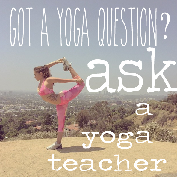 Pin it! Ask your yoga question on this blog!  Wearing:  Top ,  pants .