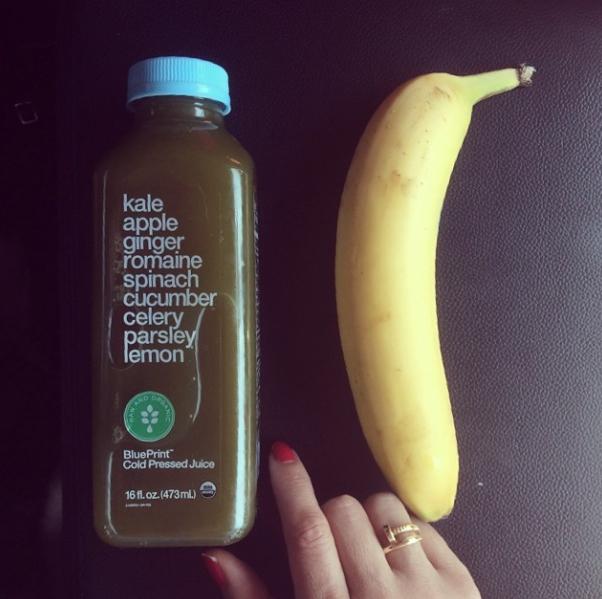 Blueprint juice and banana