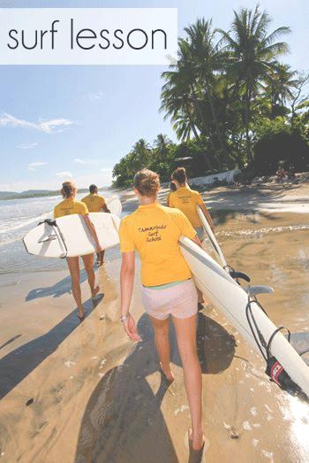 Surf lesson in Costa Rica