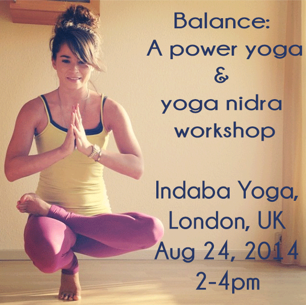 Power yoga and yoga nidra workshop in London, UK.