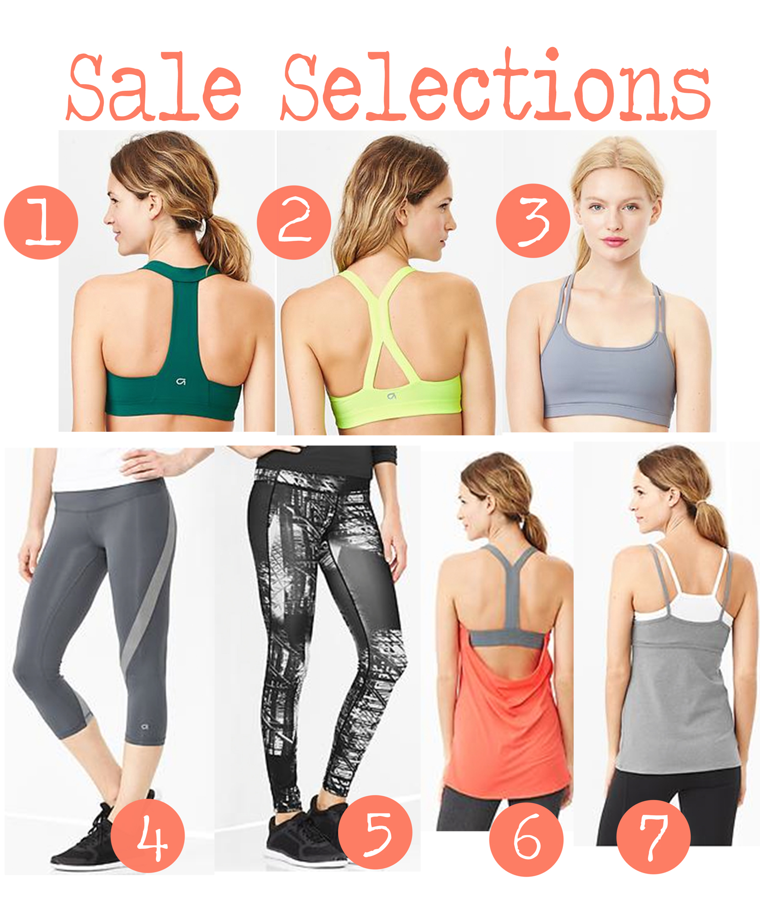 Pin it! GapFit sale selections