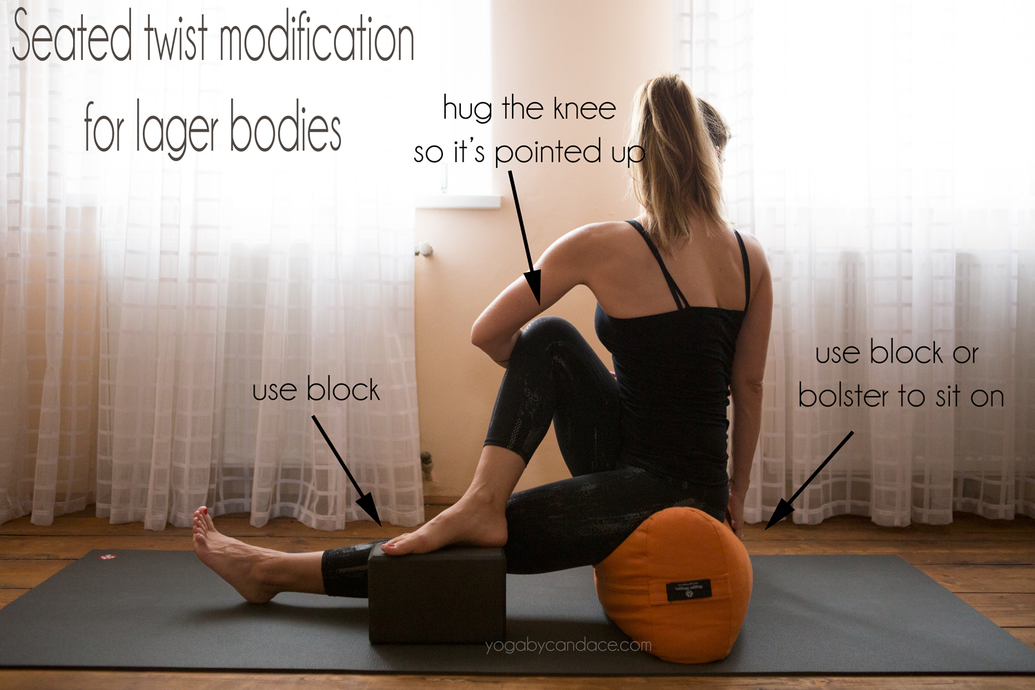 Seated twist modifications for larger bodies