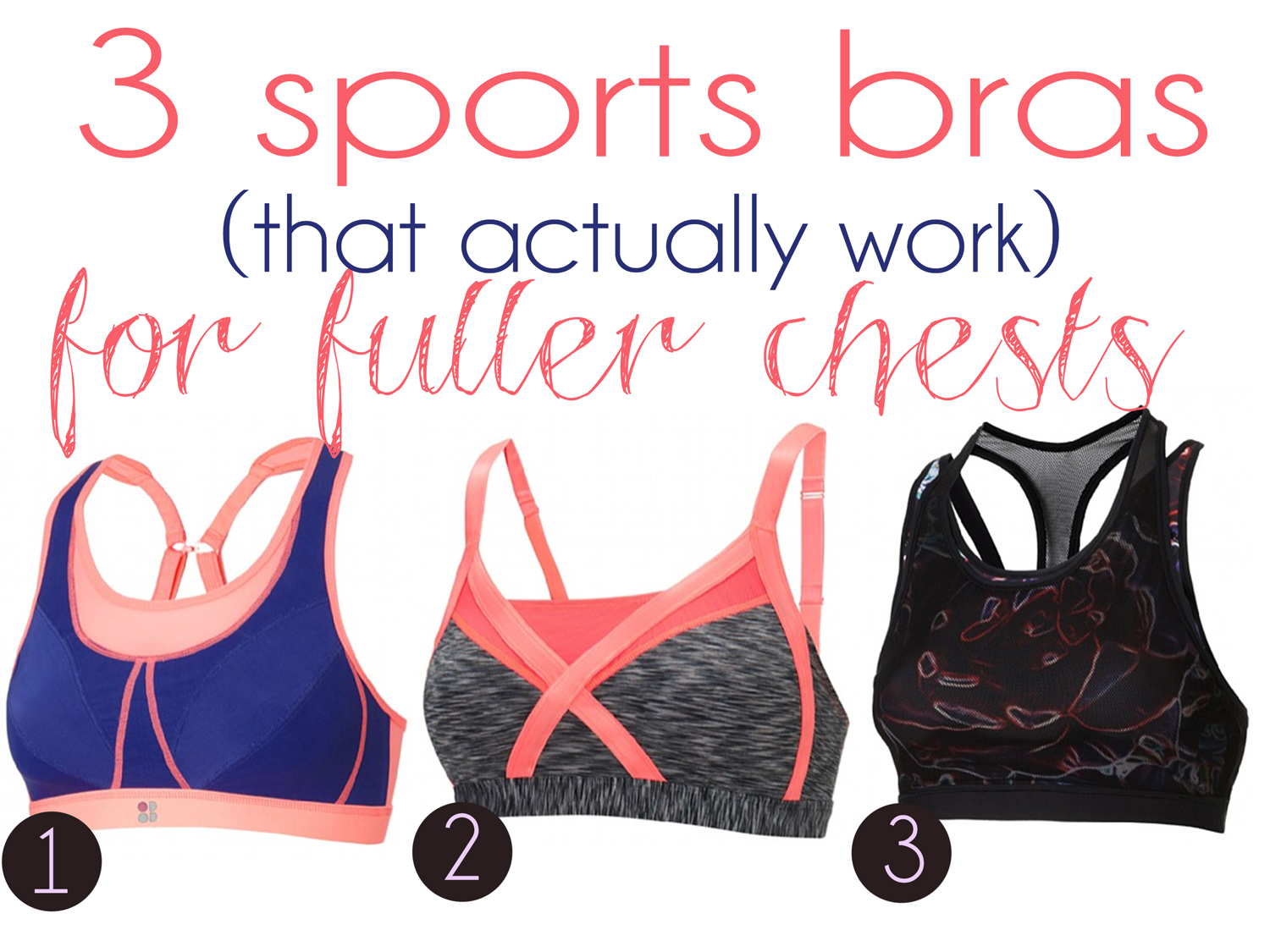 Pin it! Sports bras that actually work.