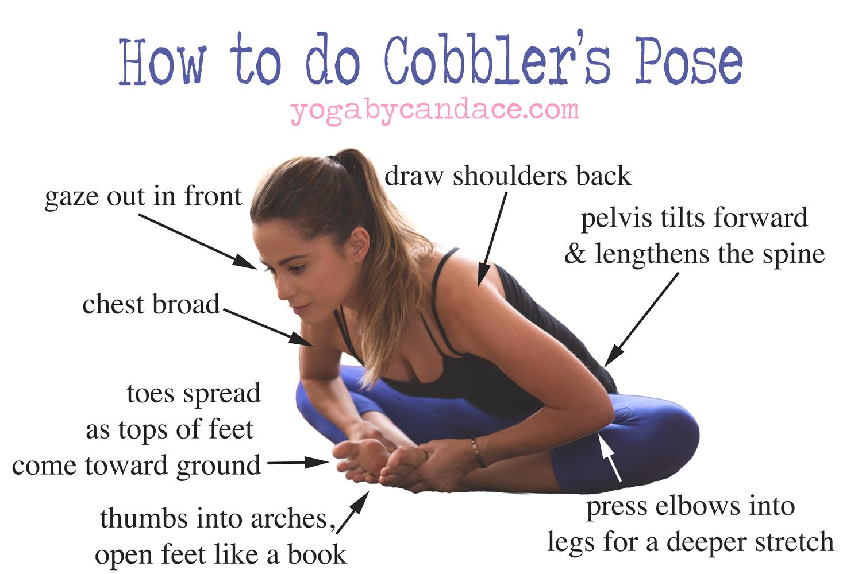 Pin it! How to do Cobbler's Pose!  Wearing:  Athleta pants .