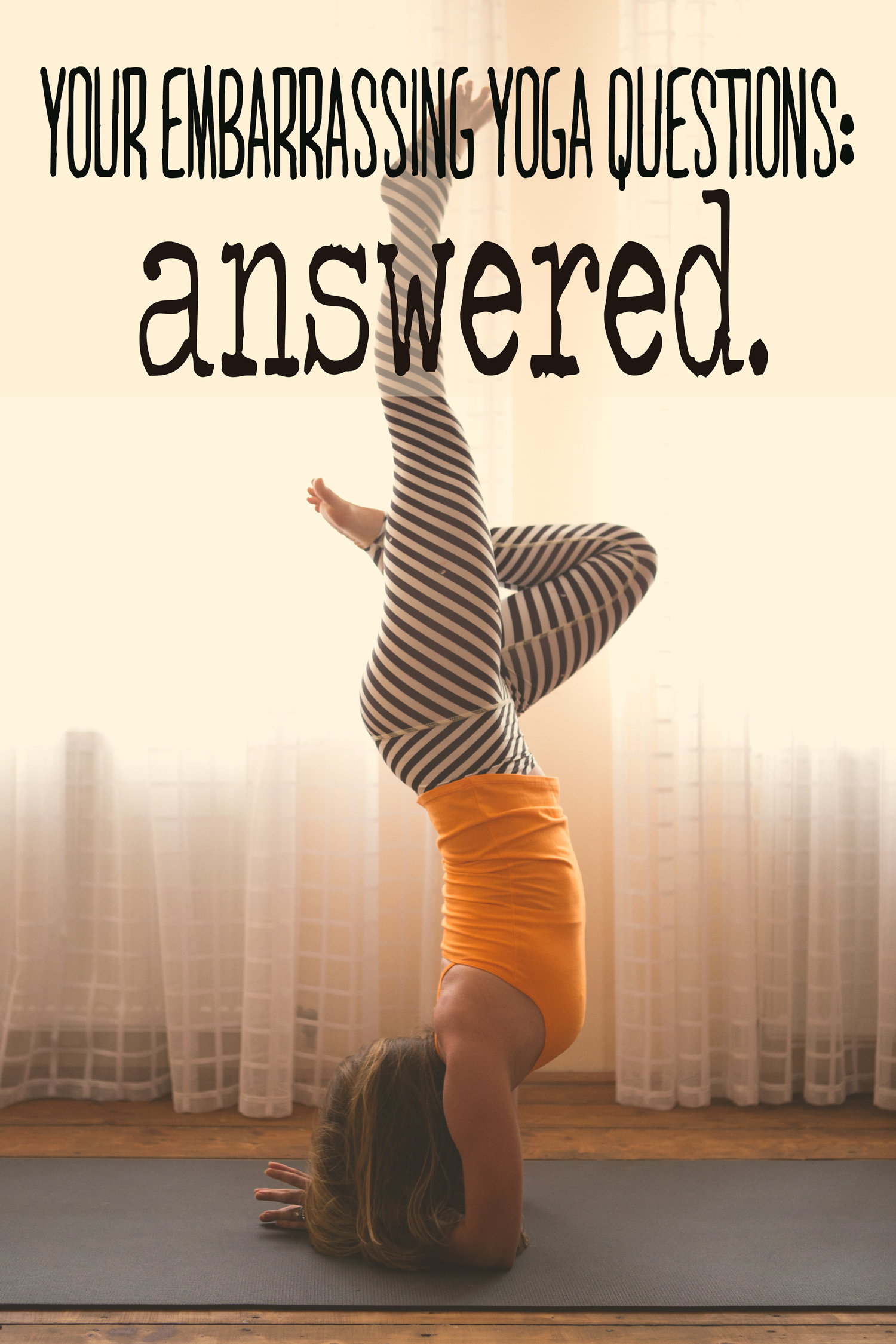 Pin it!  Wearing:  teeki pants ,  hyde yoga tank . Using,  black mat pro . Pose:  forearm stand .