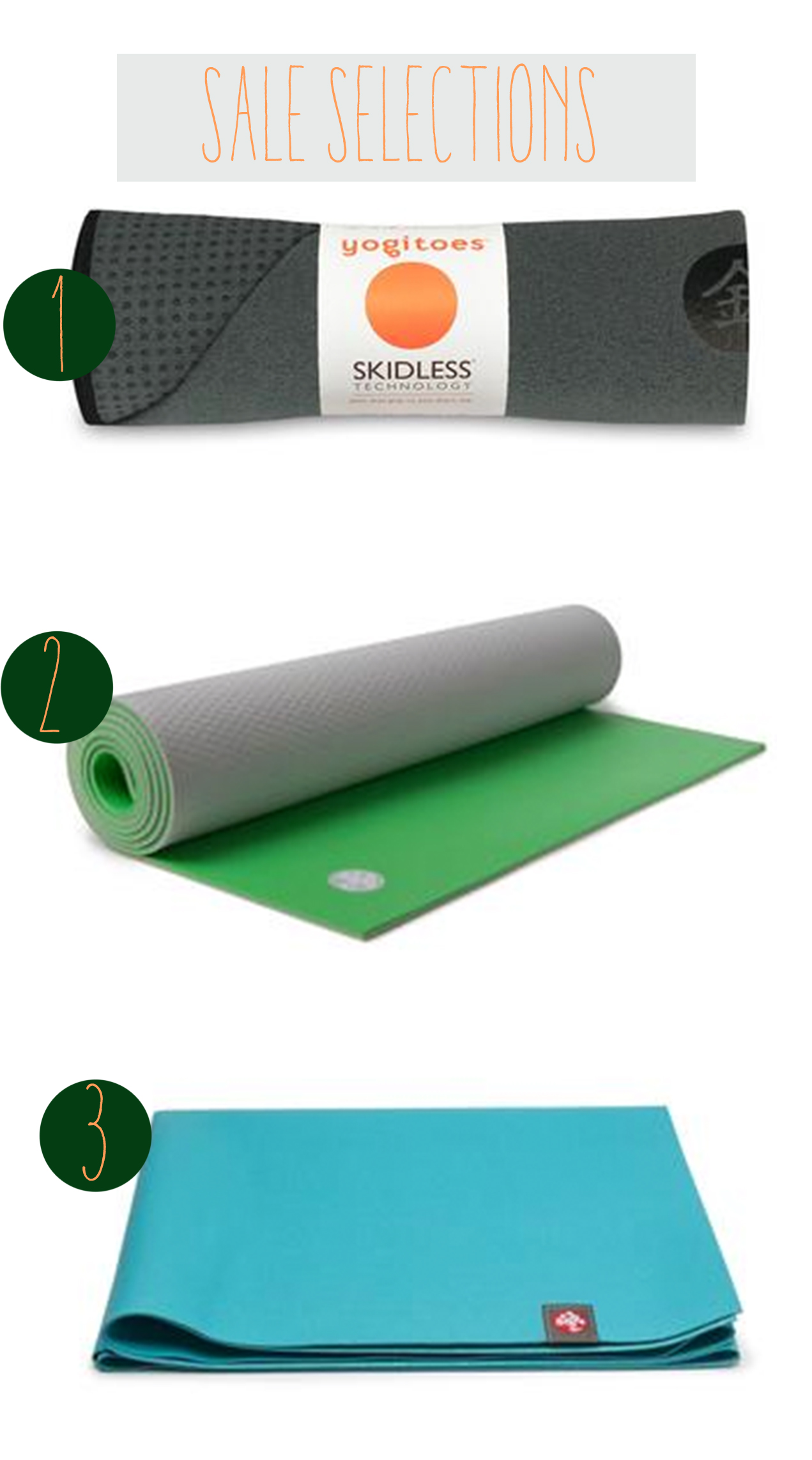 Some high quality items for yoga on sale.