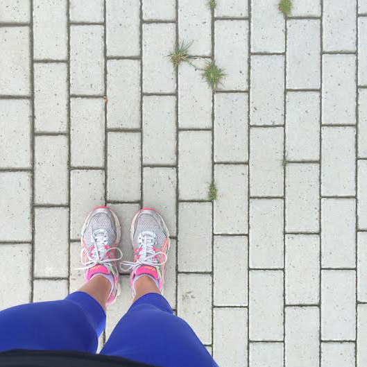 Wearing:  Athleta pants  and  asics sneakers