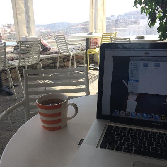 Working from Veranda in Sifnos