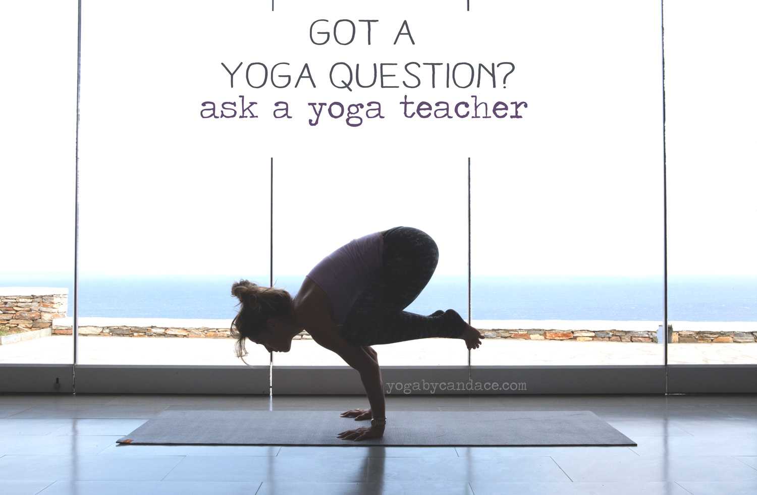 Pin it and ask your yoga questions on this blog.  Wearing:  Wellicious tank  and  pants .