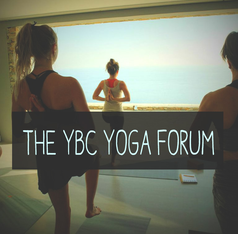 Pin now and join in on the YBC Yoga Forum with likeminded people!