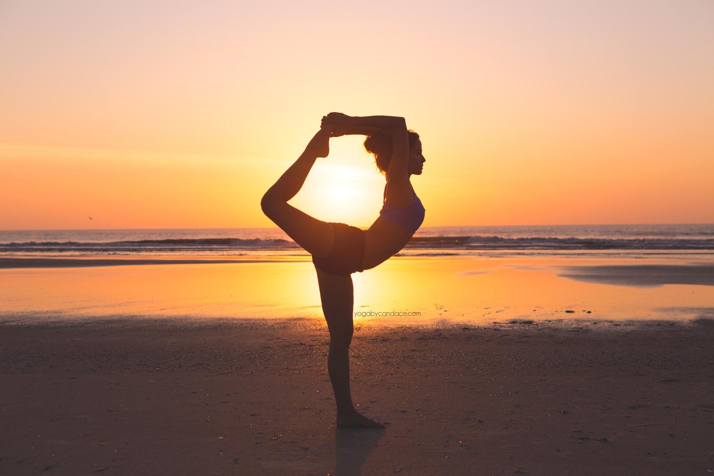Yoga on the beach a couple years ago in Florida