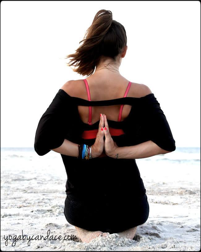 Pin it! How to do reverse prayer pose