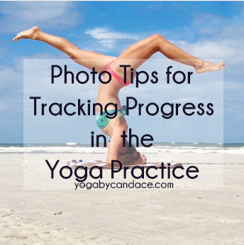 Pin it and track your yoga progress.  Wearing:  bikini bottoms , top ( similar )