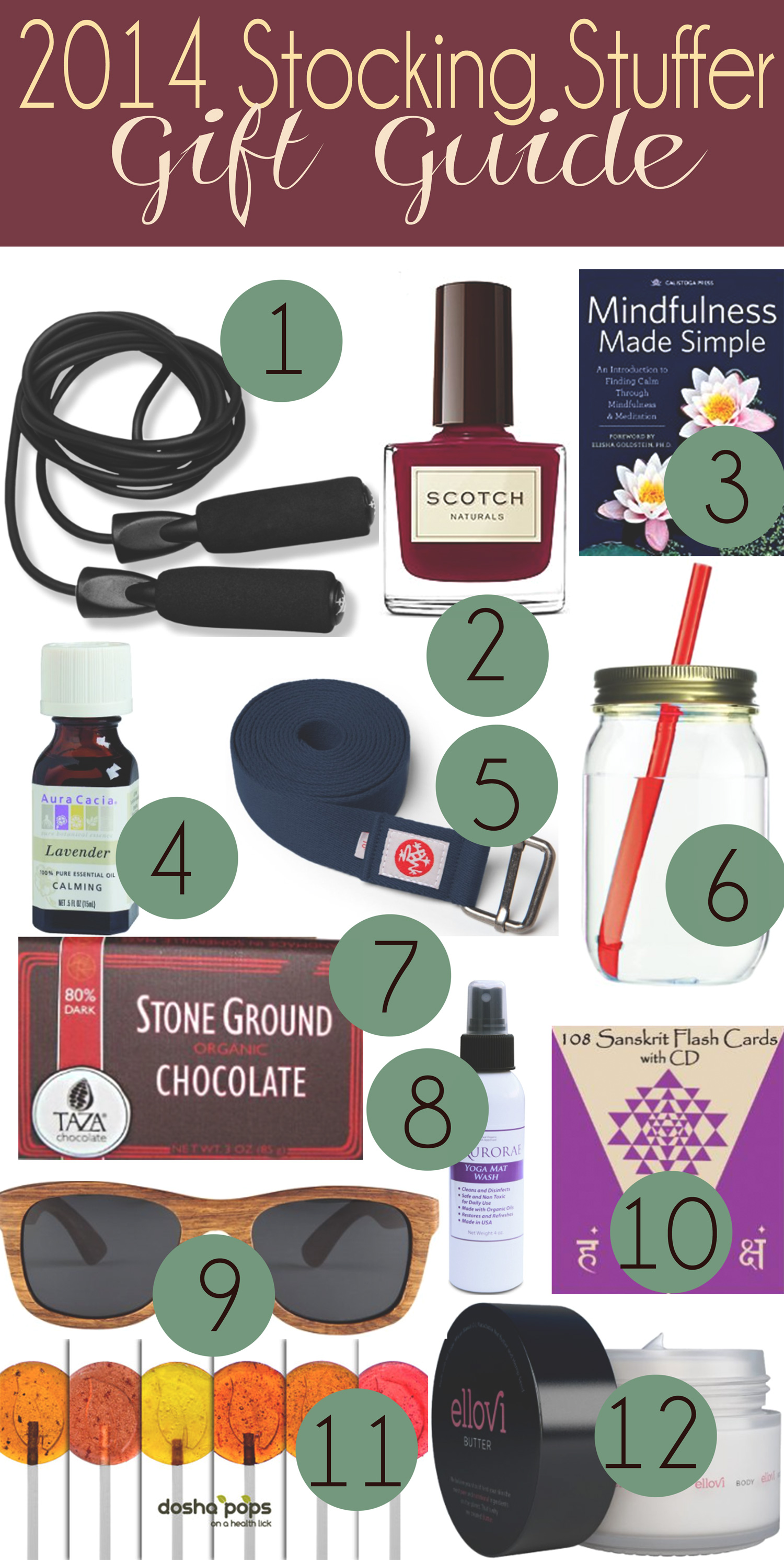 Pin it! 2014 stocking stuffer gift guide for the yoga people in your life!