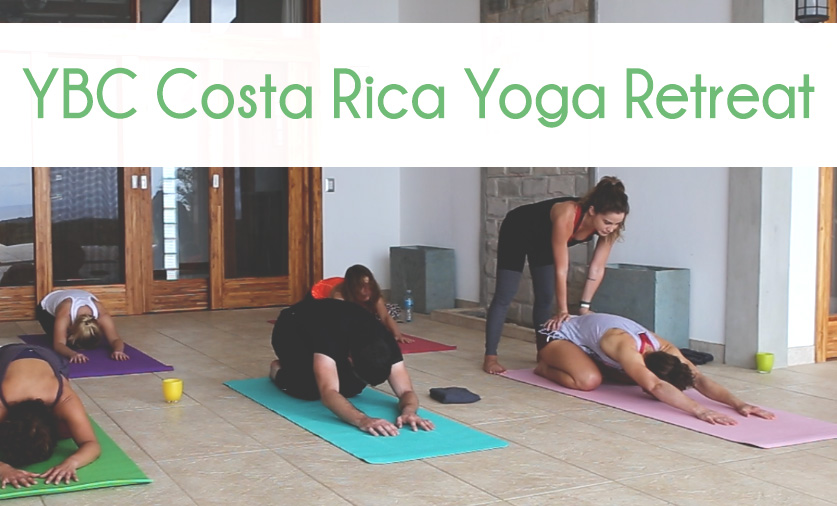 YBC Yoga Retreat in Costa Rica  Wearing:  Alo pants  c/o, American Rag tank,  Alo bra  c/o