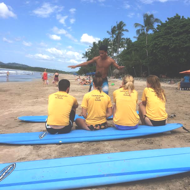 Surf lesson in Tamarindo
