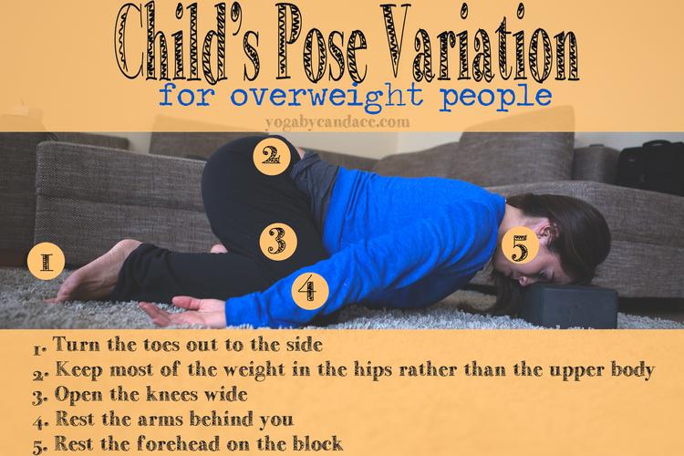 Pin it! Child's pose variation for overweight people.  Wearing: VS Pink sweats , F 21 basic tank , F 21 crop sweatshirt . Using: Nu-Source yoga block .