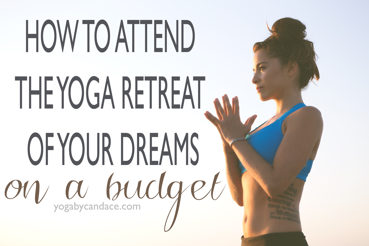 Pin now and go on the yoga retreat of your dreams!  Wearing: Lululemon bra ( similar ).