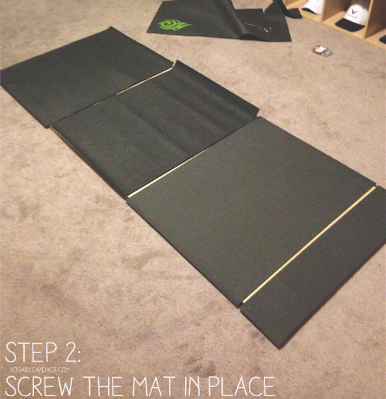 Pin it! Make a hard surface yoga space so you can practice on carpeted floors.